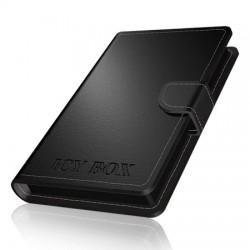 Boîtier externe pour disque dur 2.5 pouces sata 3 USB 3.0 (simili-cuir Noir) ICY BOX IB-255U3