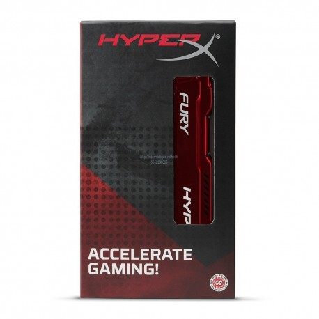 Kingston HyperX Fury HX318C10FR/8 CL10 DIMM Rouge - mémoire 8Go RAM DDR3 PC3-14900 1866MHz