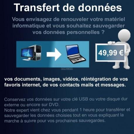 transfert, migration de données (Photos, vidéos, compte de messagerie etc.) Rethel et alentours