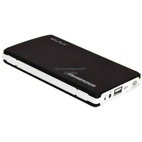 Boîtier de disque dur USB externe, IDE - USB 2.0, Aluminium, Noir