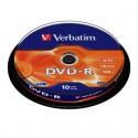 DVD-R 4,7 Go 16x en cakebox 10 pièces Verbatim