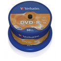 DVD-R 4,7 Go 16x en cakebox 50 pièces Verbatim