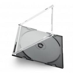 Slimline Box pour 1 CD tray noir 100 pièces
