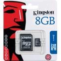 Carte micro SDHC 8Go avec adaptateur Kingston