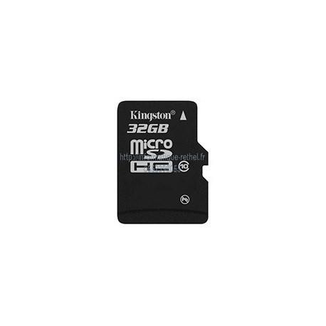 Carte micro SDHC 32Go Classe 10 avec adaptateur Kingston