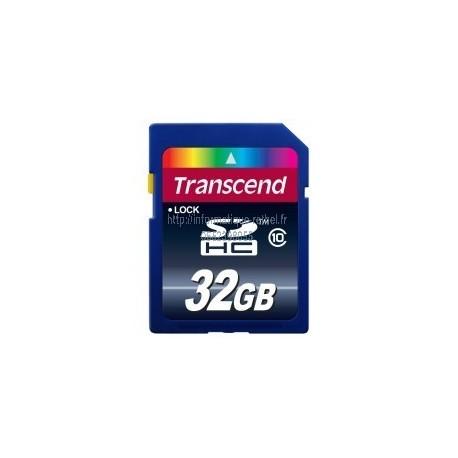 Carte SDHC 32Go (Class 10) Transcend