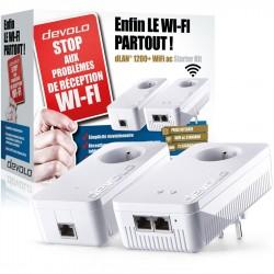 Adaptateurs CPL Wi-Fi 1200 Mbps Devolo dLAN 1200+ Wi-Fi AC Starter Kit