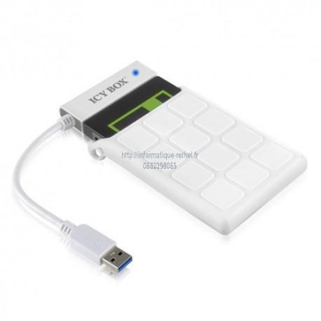 Boîtier externe pour disque dur 2.5 pouces sata 3 USB 3.0 (Aluminium,Plastique) ICY BOX IB-AC6032-U3