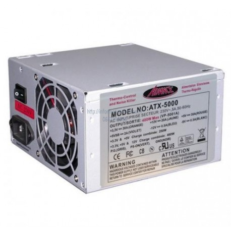 Alimentation 480W Advance ATX-5000 ATX 12V