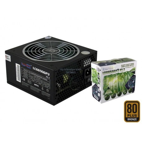 Alimentation 650W LC POWER LC6650GP3 V2.3 Ventilateur 14 cm