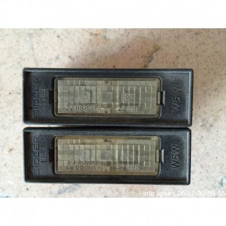 Lot de 2 éclaireurs de plaque Citroën Xantia - Référence sidler 1383 (Occasion)