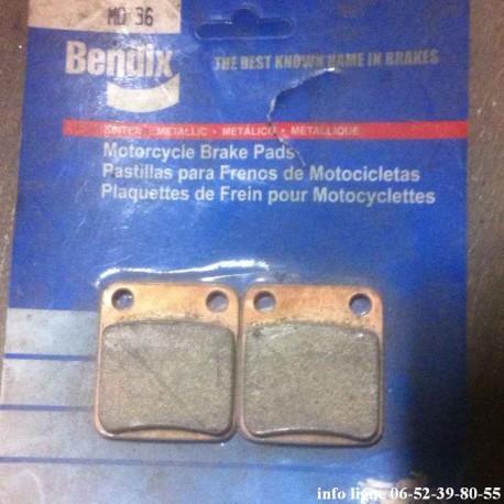 Plaquettes de frein Bendix MO36 pour Moto quad - Référence MO36 (Neuf)