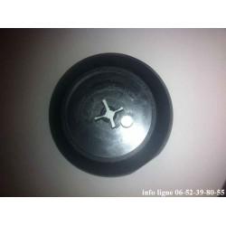 enjoliveur noir central de roue tôle 5 crevés pour Peugeot 104 et Samba - Référence 5415.47 (Neuf)