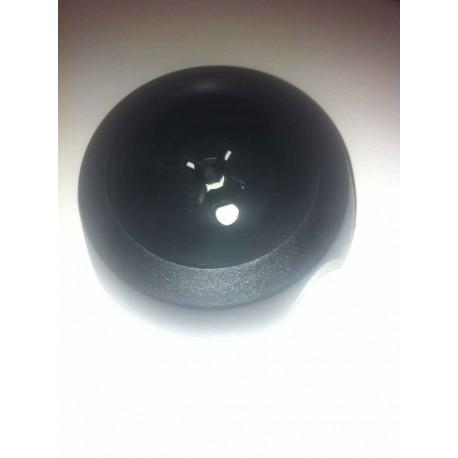 enjoliveur noir central de roue tôle 5 crevés pour Peugeot 104 et Samba - Référence 5415.55 (Neuf)