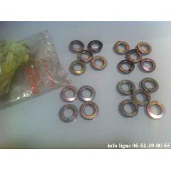 lot de 19 rondelles grower Peugeot 203, 403, 404, 204, 304, 504, 505, D3A, J7 et J9 - Référence 6953.08 (Neuf)