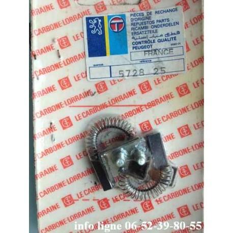 Jeu de balais Charbons Ducellier 608272 pour alternateur UX 79-80 - Référence 5728.25 (Neuf)