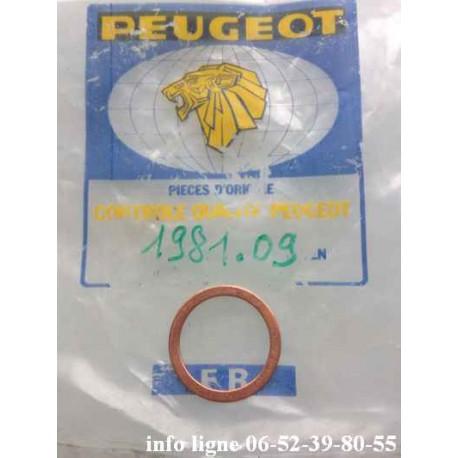 joint cuivre pour Peugeot 304 - Référence 1981.09 (Neuf)