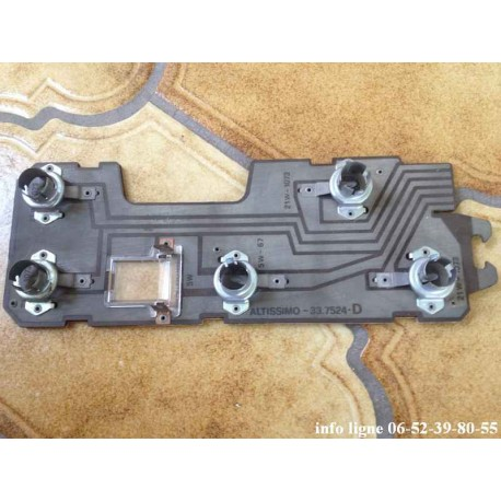 Platine de feu arrière droit Altissimo 337524D Peugeot 305 - Référence 6346.41 (Neuve)
