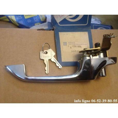 poignée de  porte extérieure droite chromée Mini cooper 1969-2000 - Référence CZH886 (Neuf)