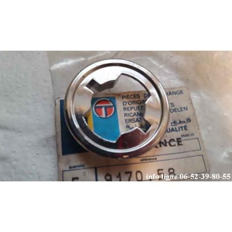 Bague chromée de verrou de porte Peugeot 505 - Référence 9170.58 (Neuf)
