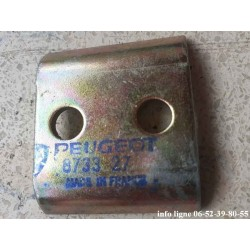 Contre plaque inférieure de barre de torsion de coffre Peugeot 204 et Peugeot 304 Break - Référence 8733.27 (Neuf)