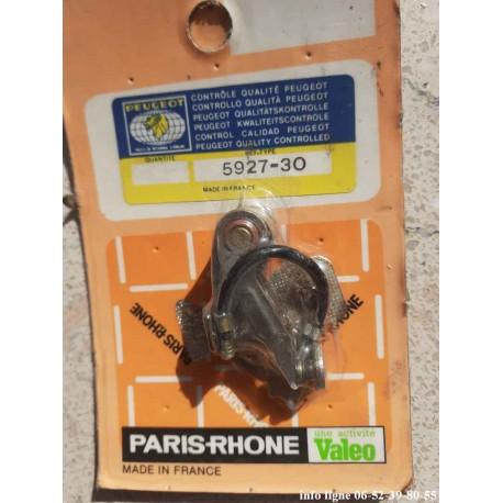 Jeu de vis platinée pour allumeur Paris-Rhône Peugeot 204-304-404-504-J7, Renault R4-R5-R12 - Référence 5927.30