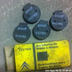 Plaquettes de frein à main pour Citroën 2 CV, BX, Ami 8, Axel, GS et GSA - Référence 95549355 (Neuves)